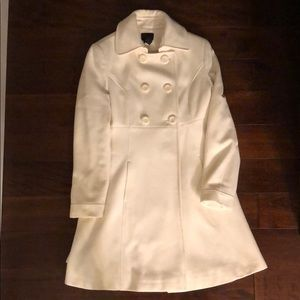 Via off white pea coat size 10p